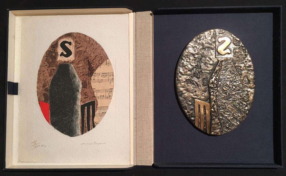 Multiple Papart - PAVANE. Une eau-forte signée et un bronze (1977).