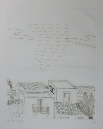 Drypoint Fassianos - Paysage