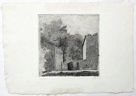Etching Morandi - Paysage