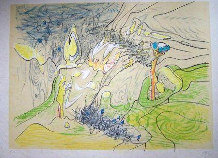 Lithograph Matta - Paysage