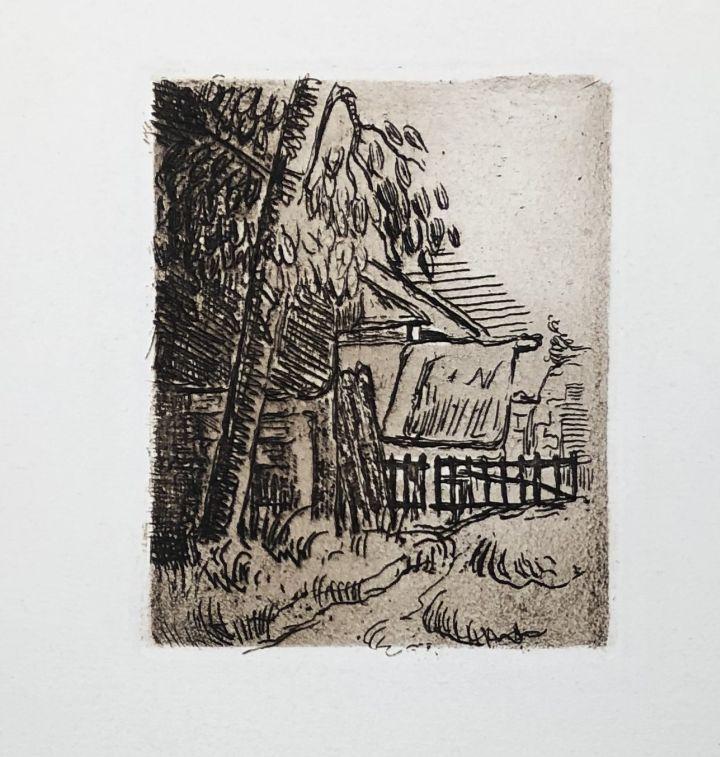 Engraving Cezanne - Paysage à Auvers