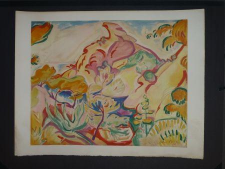 Lithograph Friesz - Paysage à La Ciotat (la pointe du Capucin)