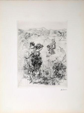 Etching Bellmer - Paysage 1800