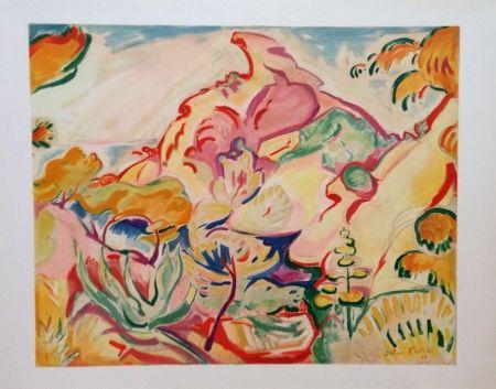 Lithograph Friesz - Paysage a la Ciotat