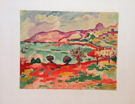 Lithograph Braque - Paysage A L'estaque Lithographie