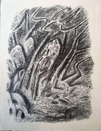 Lithograph Masson - Paysage au Cascatelles