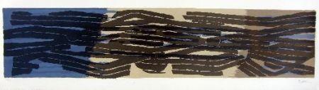 Lithograph Ubac - Paysage Aux Sillons 4