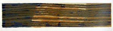 Lithograph Ubac - Paysage aux sillons 5