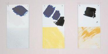 Screenprint Buraglio - Paysage avec un nuage rouge/Hommage à Mondrian