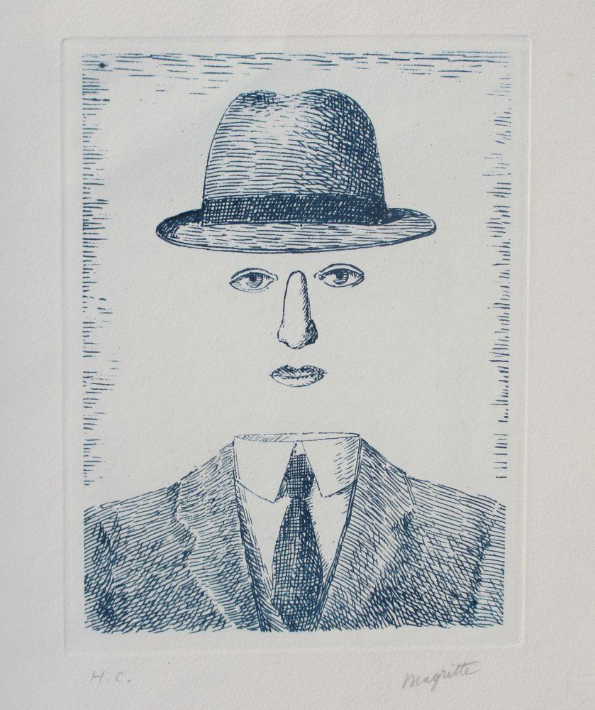 Engraving Magritte - Paysage de Baucis