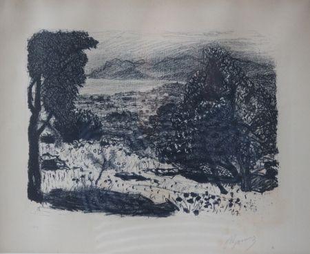 Lithograph Bonnard - Paysage du Midi