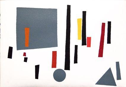 Screenprint Goeritz  - Paysage géométrique