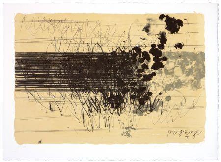 Lithograph Denning - Paysage I