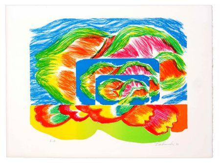 Lithograph Tabuchi - Paysage II