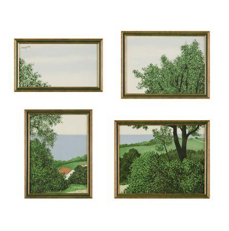 Lithograph Magritte - Paysage ou Profondeur de la Terre
