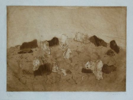Etching And Aquatint Music - Paysage rocheux