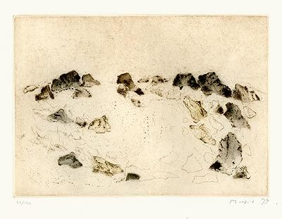 Drypoint Music - Paysage rocheux, 1979