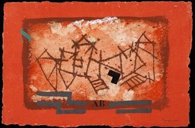 Carborundum Coignard - Paysage rouge