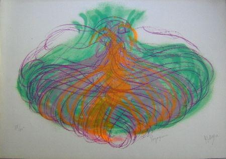 Lithograph Messagier - Paysageoines