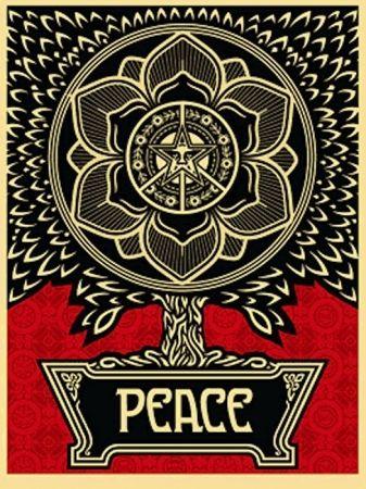Screenprint Fairey - Peace Tree