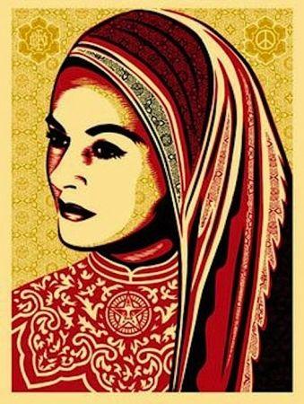 Screenprint Fairey - Peace Woman