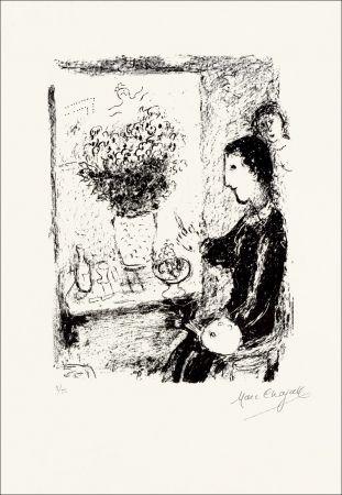 Lithograph Chagall - Peintre