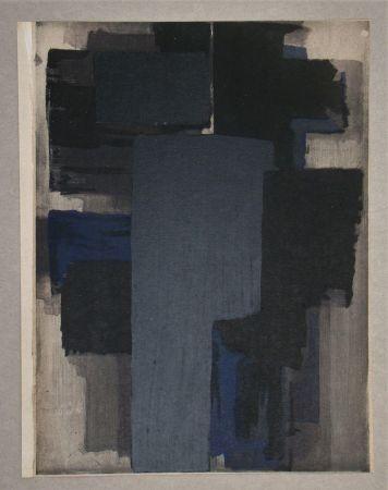 Pochoir Soulages - Peinture, 1955