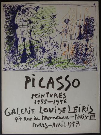 Lithograph Picasso - Peintures - Galerie Leiris 1957