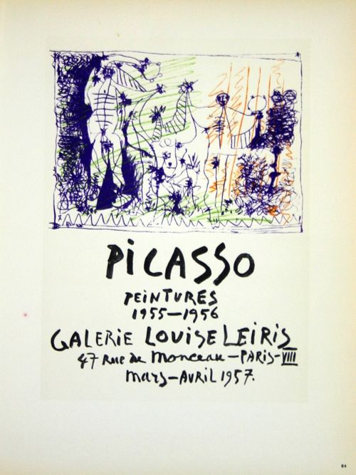 Lithograph Picasso (After) - Peintures  1955/1956