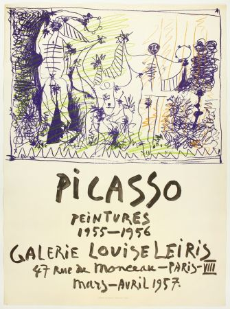 Lithograph Picasso - Peintures 1955 - 1956 (Galerie Louise Leiris)