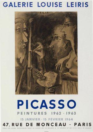 Lithograph Picasso - '' Peintures 1962 - 1963 ''