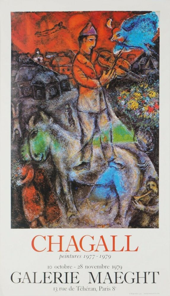 Poster Chagall - '' Peintures 1977 - 1979 ''