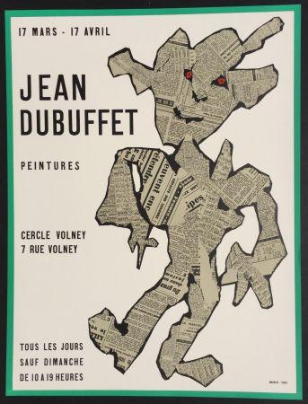 Lithograph Dubuffet - Peintures, Cercle Volney