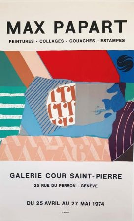 Lithograph Papart - Peintures Collages  Gouaches  Estampes Galerie Cour St Pierre