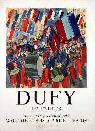 Lithograph Dufy - Peintures Galerie Louis Carré  Mai 1952