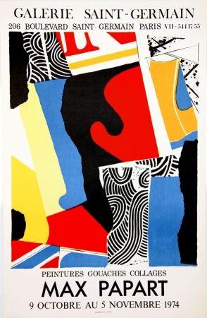 Lithograph Papart - Peintures Gouaches Collages Galerie St Germain