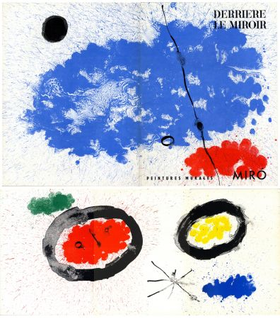 Lithograph Miró - PEINTURES MURALES DE MIRO. DERRIÈRE LE MIROIR n° 128. Juin 1961.