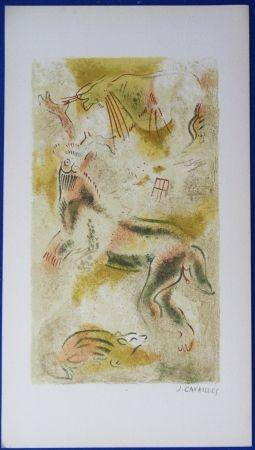 Lithograph Cavailles - Peintures rupestres