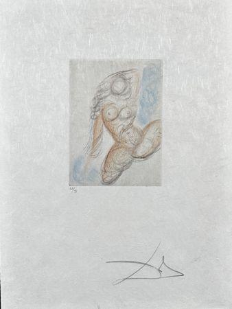 Etching Dali - Peite Nus (Ronsard) E