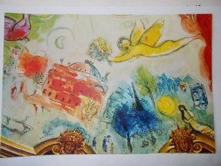 Lithograph Chagall - Pelleas et l'ange