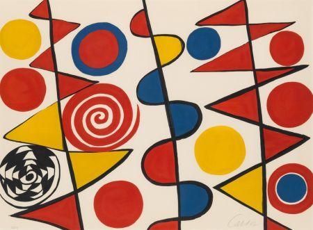 Lithograph Calder - Pennants