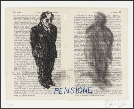Lithograph Kentridge - Pensione from Untitled Baedecker portfolio