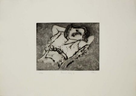 Etching And Aquatint Stern - Pensive Lady II