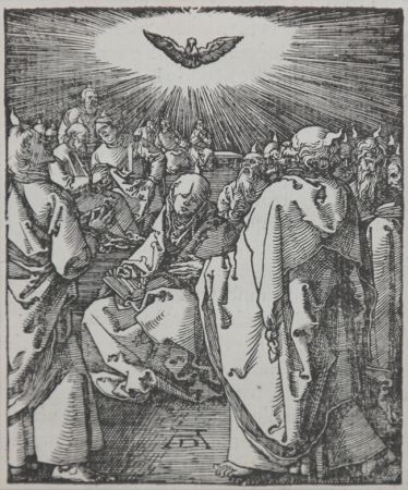 Woodcut Durer - Pentecost (The Small Passion), 1612