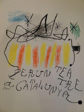 Lithograph Miró - Per un teatre a Catalunya