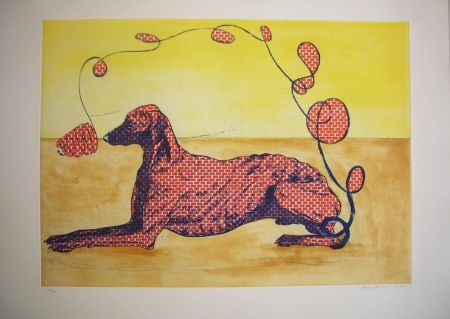 Etching And Aquatint Smith - Perros de piedra I