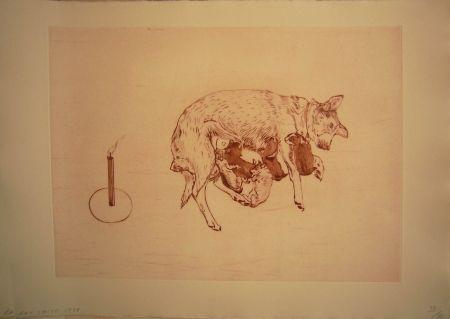 Etching And Aquatint Smith -  Perros de piedra I B