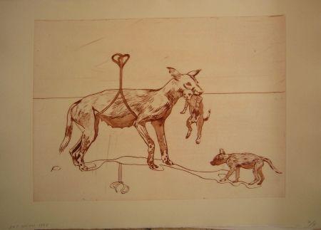 Etching And Aquatint Smith - Perros de piedra I C