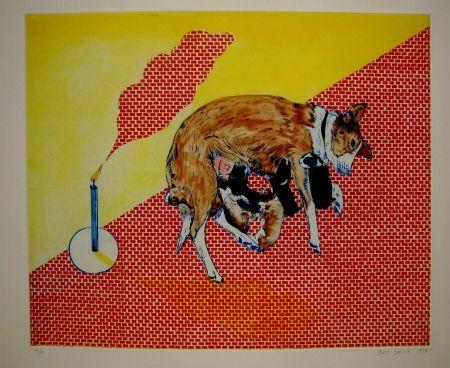 Etching And Aquatint Smith - Perros de piedra II