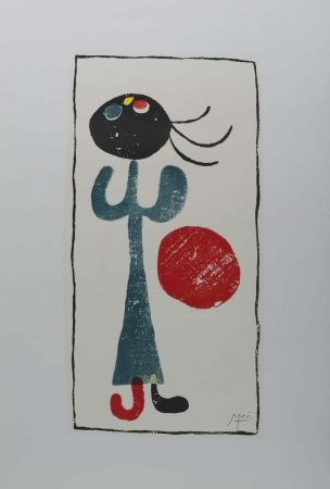 Lithograph Miró (After) - Personaje